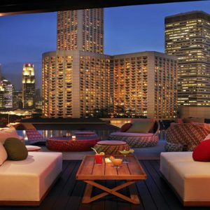Naumi Hotel Singapore Singapore Honeymoon Packages Relaxing Area On Rooftop