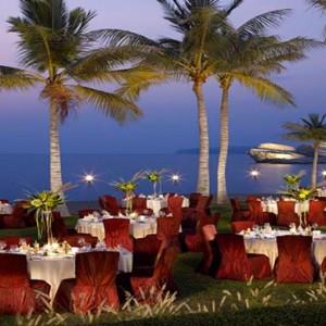 Oman Honeymoon Packages Al Waha At Shangri La Barr Al Jissah Resort And Spa Beach Function Setup