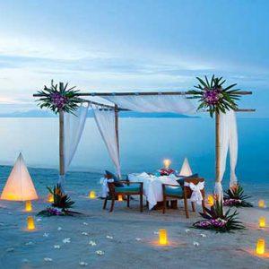 Thailand Honeymoon Packages Melati Beach Resort & Spa Romantic Dining On The Beach