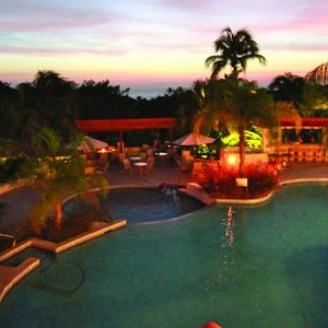 sugar cane club hotel - barbados honeymoon packages - pool nights