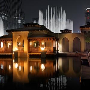 the palace downtown dubai - dubai luxury honeymoon packages - lake