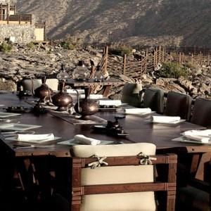 Oman Honeymoon Packages Alila Jabal Akhdar Dining