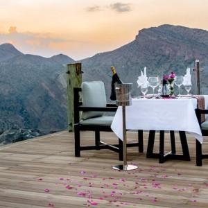 Oman Honeymoon Packages Alila Jabal Akhdar Dining 2