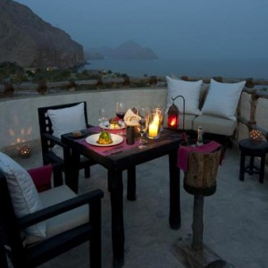 Oman Honeymoon Packages Six Senses Zighy Bay Oman Dining 11