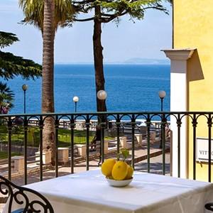 Grand Hotel La Favorita - Italy Luxury Holidays - Balcony at Breakfast