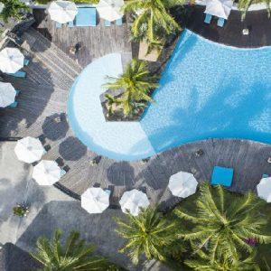 Mauritius Honeymoon Packages Solana Beach Pool Ariel View