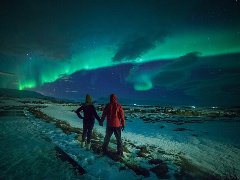 Proposal Underneath The Northern Lights Romantic Locations To Propose