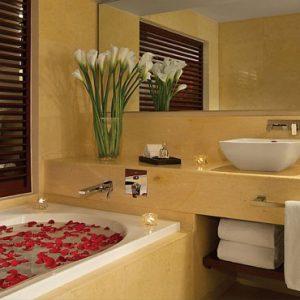 Mexico Honeymoon Packages Secrets Playa Mujeres Suite Bathroom