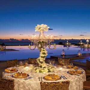 Mexico Honeymoon Packages Secrets Playa Mujeres Wedding Dinner Setup