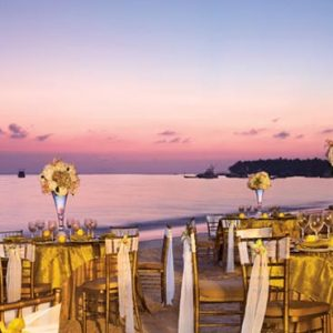 Dominican Republic Honeymoon Packages Dreams Palm Beach Punta Cana Beach Wedding Reception At Sunset