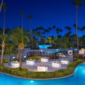 Dominican Republic Honeymoon Packages Dreams Palm Beach Punta Cana Wedding Dinner Pool Setup