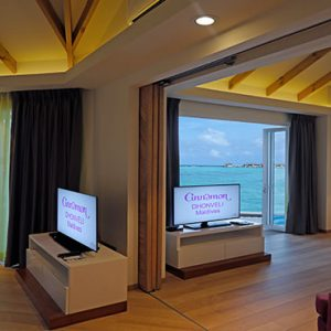 Overwater Suites Interior Cinnamon Dhonveli Maldives Honeymoons
