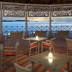 Raiyvilaa Sunset Terrace and Bar - cinnamon dhonveli - luxury maldives honeymoon packages
