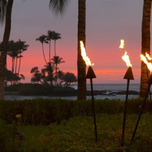 Hawaii Honeymoon Packages Fairmont Orchid Hawaii Sunset