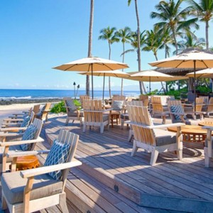 Hawaii Honeymoon Packages Four Seasons Hualalai Hawaii Big Island Beach Tree Lounge