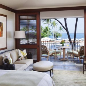 Hawaii Honeymoon Packages Four Seasons Hualalai Hawaii Big Island Prime Ocean View Room