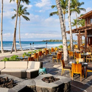 Hawaii Honeymoon Packages Four Seasons Hualalai Hawaii Big Island ULU Ocean Grill