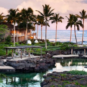 Hawaii Honeymoon Packages Four Seasons Hualalai Hawaii Big Island Kings Pond
