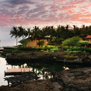 Hawaii Honeymoon Packages Four Seasons Hualalai Hawaii Big Island Kings Pond 2