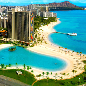 thumbnail - Hilton Hawaiian Waikiki Beach - Luxury Hawaii Honeymoon Packages