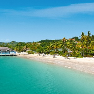Beach 2 - Sandals Halcyon Beach - Luxury St Lucia Honeymoons