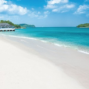 Beach - Sandals Halcyon Beach - Luxury St Lucia Honeymoons