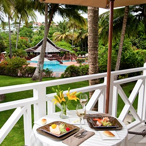 Breakfast - Sandals Halcyon Beach - Luxury St Lucia Honeymoons