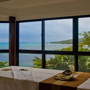 Coco de Mer & Black Parrot Suites - Luxury Seychelles Honeymoon Packages - Spa treatment room with a view