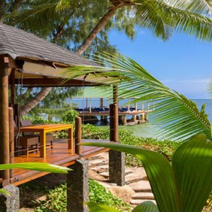 Coco de Mer & Black Parrot Suites - Luxury Seychelles Honeymoon Packages - deck view