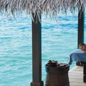 Maldives Honeymoon Packages Shangri La's Villingili Resort And Spa CHI, The Spa Massage Overwater
