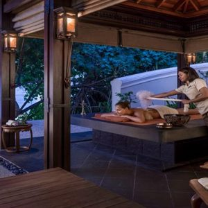 Maldives Honeymoon Packages Shangri La's Villingili Resort And Spa Dine By Design Outdoor Hammam At CHI, The Spa