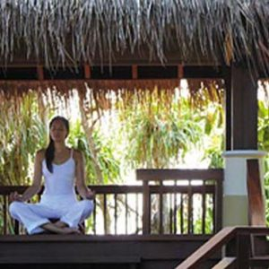 Maldives Honeymoon Packages Shangri La's Villingili Resort And Spa Meditation Pavilion At CHI, The Spa