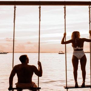 Maldives Honeymoon Packages Shangri La's Villingili Resort And Spa Overwater Swing For Two