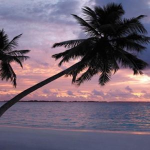 Maldives Honeymoon Packages Shangri La's Villingili Resort And Spa Sunset View From The Resort's Main Beach