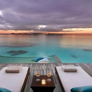 Maldives Honeymoon Packages Shangri La's Villingili Resort And Spa Sunset Water Villa Views