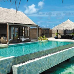 Maldives Honeymoon Packages Shangri La's Villingili Resort And Spa Villa Muthee Deck And Infinity Pool