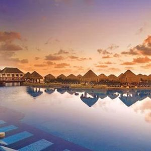 Mexico Honeymoon Packages Now Sapphire Riviera Cancun Pool At Sunrise