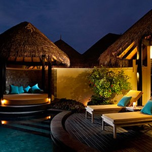 Pool Beach Villa 3 - The sun Sivam Iru Fushi - Luxury Maldives Honeymoons