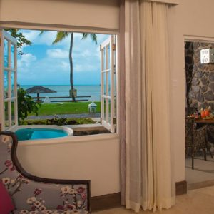 St Lucia Honeymoon Packages Sandals Halcyon Beach Beachfront Club Level Walkout Room W Patio Tranquility Soaking Tub2
