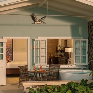St Lucia Honeymoon Packages Sandals Halcyon Beach Beachfront Club Level Walkout Room W Patio Tranquility Soaking Tub3