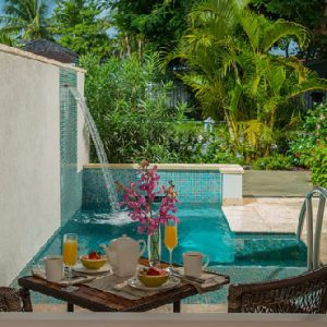 St Lucia Honeymoon Packages Sandals Halcyon Beach Honeymoon Butler Room W Private Pool Sanctuary3