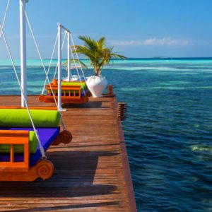 Luxury Maldives Holiday Packages Olhuveli Beach And Spa Resort Maldives Swinging Chairs