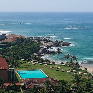 Jetwing Lighthouse - Sri Lanka - Honeymoon dreams - sky view of island