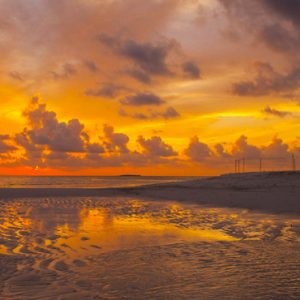Sunset On The Beach 2 Dhigufaru Island Resort Maldives Honeymoons