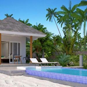 Beach Pool Villa with Jacuzzi - Luxury Maldives Honeymoons - Kandima Island Resort