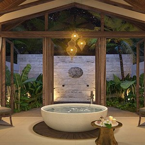 Furaveri Island Resort and Spa - Maldives Honeymoon Packages - Beach Pool villa Bathroom