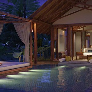 Furaveri Island Resort and Spa - Maldives Honeymoon Packages - villa at night