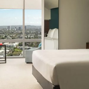Los Angeles Honeymoon Packages Andaz West Hollywood 1 King Bed Sunset Boulevard View