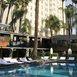 Los Angeles Honeymoon Packages Hollywood Roosevelt Hotel Pool Cafe
