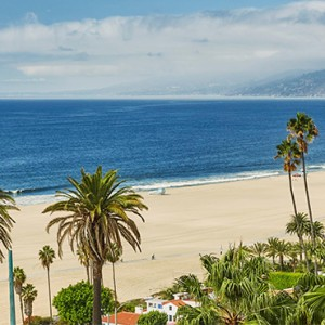 beach 3 - Fairmont Miramar Hotel and Bungalows - luxury los angeles honeymoon packages